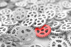 Infinite gears background. Technology, teamwork and business conceptual background royalty free illustration