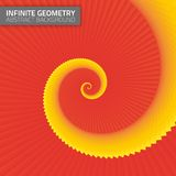 Infinite geometry. Fractal background Stock Photography