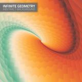 Infinite geometry. Fractal background Stock Photo