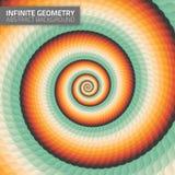 Infinite geometry. Fractal background Royalty Free Stock Image