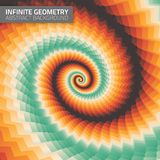 Infinite geometry. Fractal background Royalty Free Stock Images