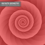 Infinite geometry. Fractal background Royalty Free Stock Photography