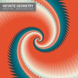 Infinite geometry. Fractal background Stock Images