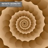 Infinite geometry. Fractal background Royalty Free Stock Photos