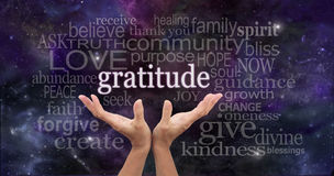 Infinite Gratitude Stock Images