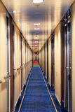 Infinite hotel corridor Stock Images
