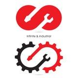 Infinite and Industrial logo.Infinite repair logo elements Royalty Free Stock Images