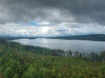 Infinite lake in Tallnas stock photo