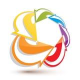 Infinite loop arrows vector abstract symbol, graphic design temp Stock Photo