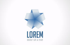 Logo Infinite loop Star ribbon abstract. Vector ic Stock Image
