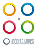 Infinite Loop Vector Design Elements. Impossible Infinite Loop Vector Design Elements with three surfaces and color shades. Easily  with global color swatches Royalty Free Stock Photos