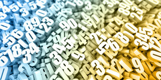 Infinite numbers background Royalty Free Stock Photo