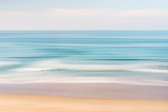 Infinite Ocean. A California seascape with panned motion blur and pastel colors Stock Photo