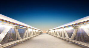 Infinite passage. Futuristic passage - path to infinite Royalty Free Stock Image