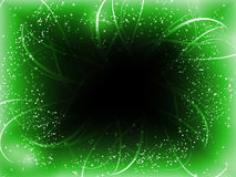 Infinite Perspective Green Stars Stock Image