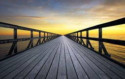 Infinite pier Royalty Free Stock Image