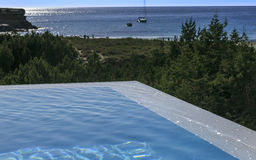 Infinite pool in Formentera Royalty Free Stock Photo