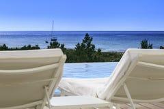 Infinite pool Formentera Royalty Free Stock Photo
