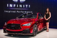 Infinite Q50 Eau Rouge concept car stock photo