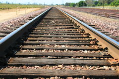 Infinite Railroad. Close up of the infinite railroad Royalty Free Stock Photos