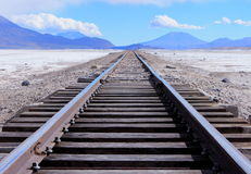 Infinite railroad Stock Images