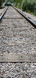 Infinite Railroad Tracks Royalty Free Stock Photography