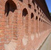 Infinite Red Brick Wall Royalty Free Stock Photo