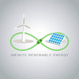 Infinite Renewable Energy Royalty Free Stock Photo
