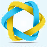 Infinite Ribbon Star Vector Illustration. Stock Photography