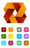 Infinite ribbon vector design logo template. Royalty Free Stock Photos