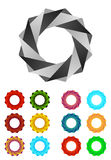Infinite ribbon vector design logo template Stock Photography