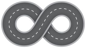 Infinite road. Endless road is a symbol of infinite way Stock Photos