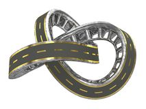 Infinite Road With Golden Lines Stock Image