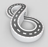 Infinite road in hourglass shape Stock Photography