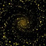 Infinite spiral cosmic stardust whirl Royalty Free Stock Photo