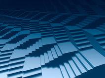 Infinite stairs 3d. Infinite 3d staircases dark blue background vector illustration