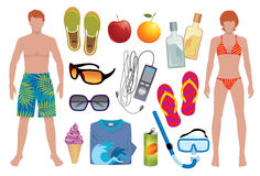Infinite Summer. Vector elements to light up your summer stock illustration