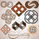 Infinite symbol logo set Royalty Free Stock Photography