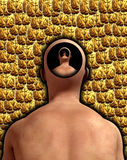 Infinite Thought 9. A conceptual image about thoughts and the mind and infinity Stock Image