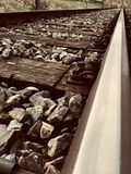 Infinite train tracks royalty free stock photo
