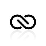 Infinite vector icon. Isolated on white background Royalty Free Stock Images