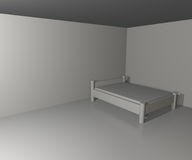Infinite White Bedroom Background Royalty Free Stock Photo