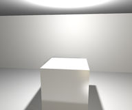 Infinite White Spotlight Background Stock Photography