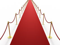 Infinitely long red carpet Royalty Free Stock Images