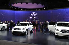 Infiniti at the auto show. Infiniti is displayed at the North American International Auto Show in Detroit Michigan USA Cobo convention center Stock Photo