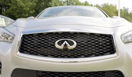 Infiniti Automobile Grill. Infiniti motor cars is the luxury vehicle division of Japanese automaker Nissan Stock Photography