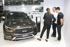 Infiniti bij het Car Show van Belgrado Royalty-vrije Stock Foto