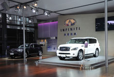 Infiniti booth Stock Photography