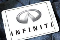 Infiniti car logo. Logo of infiniti car brand on samsung tablet Stock Images