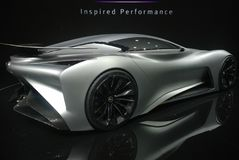 Infiniti Concept sport car Stock Photography